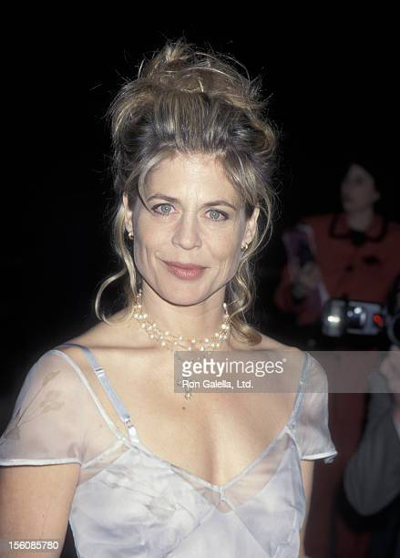 Actress Linda Hamilton attending the world premiere of 'Dante's Peak' on February 25 1997 at the Universal Ampitheater in Universal City California
