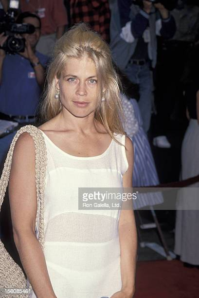 Actress Linda Hamilton attending the world premiere of 'True Lies' on July 12 1994 at Mann Village Theater in Westwood California