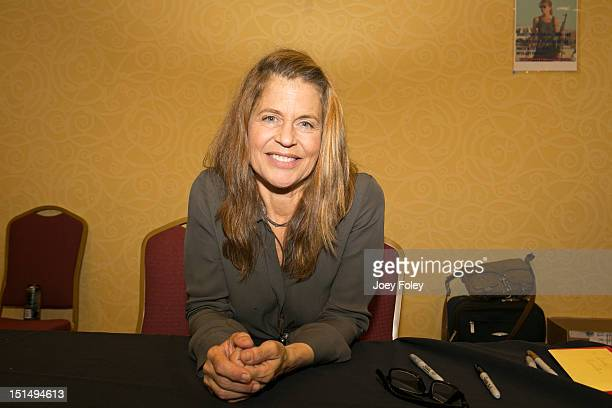 Actress Linda Hamilton attends Horrorhound Weekend Day 1 at Marriott Indianapolis on September 7 2012 in Indianapolis Indiana