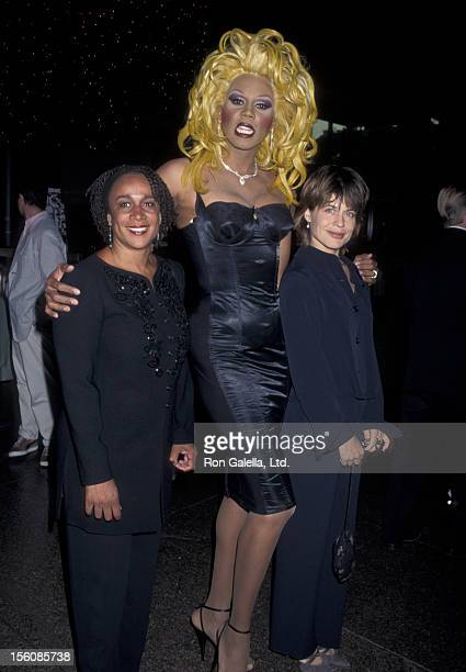 Actress Linda Hamilton S Epatha Merkerson and RuPaul attending the screening of 'A Mother's Prayer' on July 18 1995 at the Director's Guild Theater...