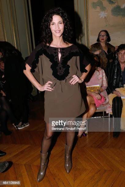 Actress Linda Hardy attends the Alexis Mabille show as part of Paris Fashion Week Haute Couture Spring/Summer 2014 on January 20 2014 in Paris France