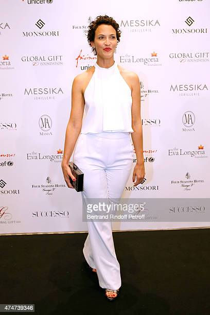 Actress Linda Hardy attends the Global Gift Gala Photocall Held at Four Seasons Hotel George V on May 25 2015 in Paris France