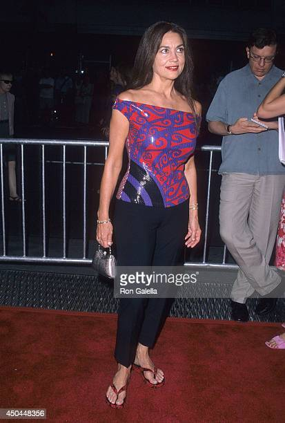 Actress Linda Harrison attends the Planet of the Apes New York City Premiere on July 23 2001 at the Ziegfeld Theatre in New York City