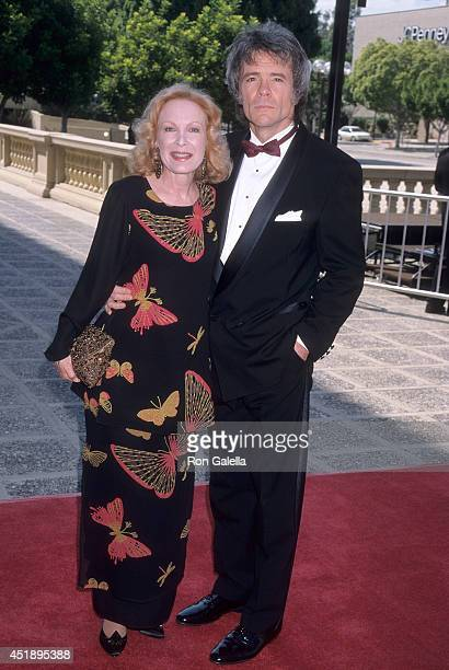 Actress Linda Kaye Henning and husband Ashby Adams attend the 50th Annual Primetime Emmy Awards Creative Arts Emmy Awards on August 29 1998 at the...