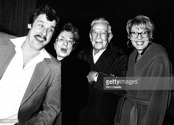 Actress Linda Kozlowski and family sighted on December 10 1990 at Cafe Des Artistes in New York City