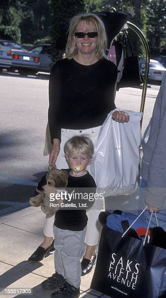 Actress Linda Kozlowski and son Chance Hogan attend Sixth Annual Critic's Choice Awards on January 22, 2001 at the Beverly Hills Hotel in Beverly...