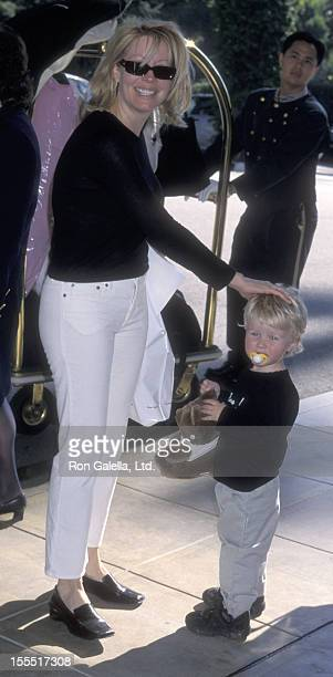 Actress Linda Kozlowski and son Chance Hogan attend Sixth Annual Critic's Choice Awards on January 22 2001 at the Beverly Hills Hotel in Beverly...