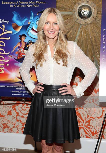 Actress Linda Larkin attends Disney's 'Aladdin' Broadway Press Day at the Crosby Street Hotel on October 12 2015 in New York City