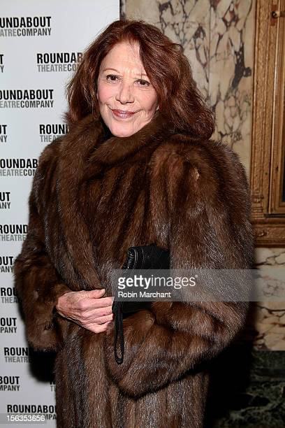 Actress Linda Lavin attends the 'The Mystery Of Edwin Drood' Broadway Opening Night at Roundabout Theatre Company's Studio 54 on November 13 2012 in...