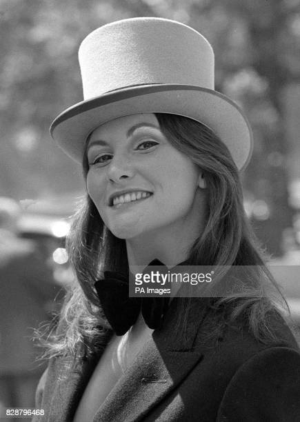 Actress Linda Lovelace who starred in the American porn film 'Deep Throat' leaves her London Hotel on Route for Royal Ascot