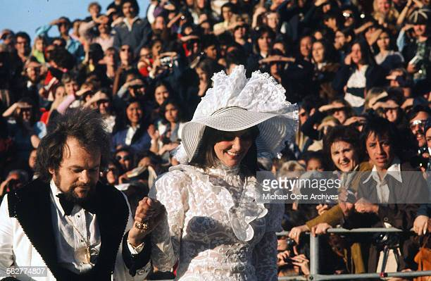 Actress Linda Lovelace with David Winters arrive to the 46th Academy Awards at Dorothy Chandler Pavilion in Los AngelesCalifornia