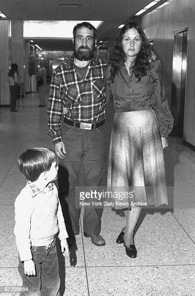 Actress Linda Lovelace with her husband at Mineola Supreme Court.