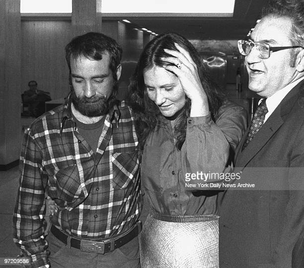 Actress Linda Lovelace with her husband at Mineola Supreme Court