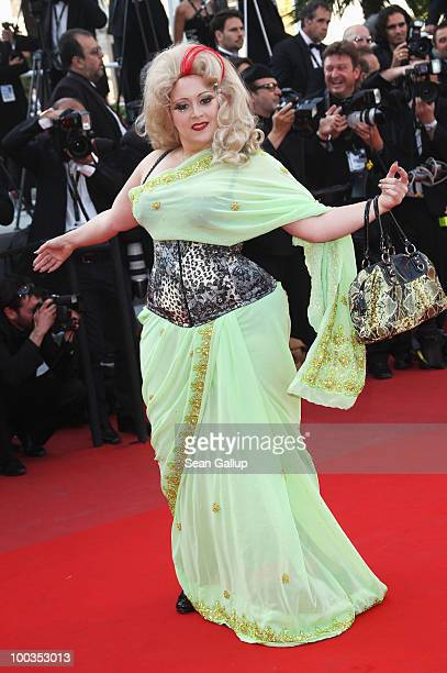 Actress Linda Marraccini attends the Palme d'Or Award Closing Ceremony held at the Palais des Festivals during the 63rd Annual Cannes Film Festival...