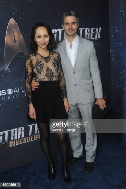 Actress Linda Park and husband/actor Daniel Bess arrive for the Premiere Of CBS's Star Trek Discovery held at The Cinerama Dome on September 19 2017...