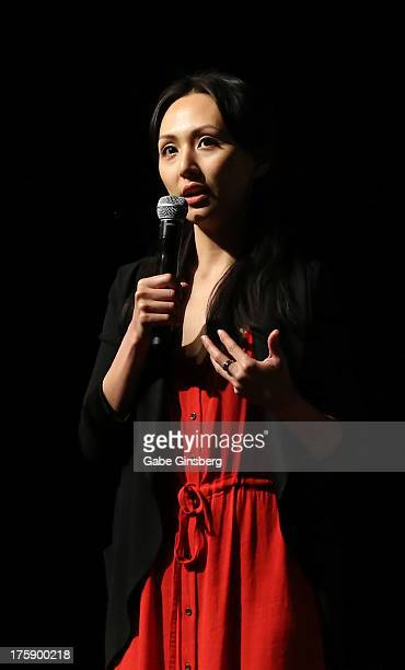 Actress Linda Park answers questions at the 12th annual Star Trek convention at the Rio Hotel Casino on August 9 2013 in Las Vegas Nevada