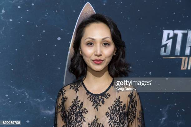 Actress Linda Park arrives for the Premiere Of CBS's Star Trek Discovery at The Cinerama Dome on September 19 2017 in Los Angeles California