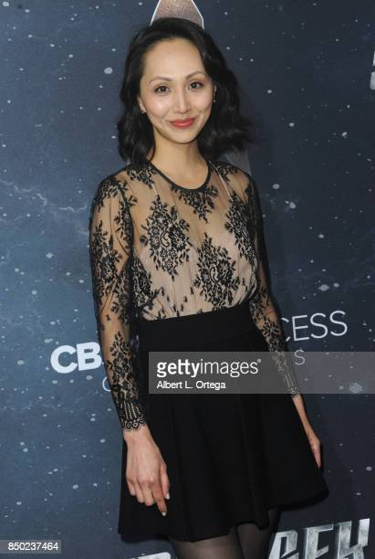 Actress Linda Park arrives for the Premiere Of CBS's Star Trek Discovery held at The Cinerama Dome on September 19 2017 in Los Angeles California