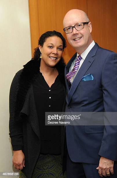 Actress Linda Powell and NCTF Executive Director Bruce Whitacre attend the 12th Annual National Corporate Theatre Fund Broadway Roundtable at UBS...