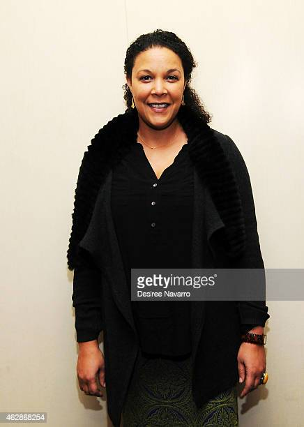 Actress Linda Powell attends 12th Annual National Corporate Theatre Fund Broadway Roundtable at UBS Headquarters on February 6 2015 in New York City