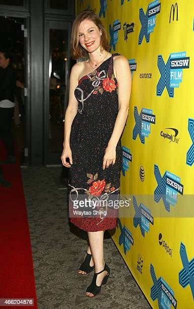 Actress Lindsay Burdge attends the premiere of 'The Invitation' during the 2015 SXSW Music Film Interactive Festival at Stateside Theater on March 13...