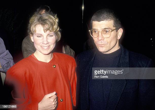 Actress Lindsay Crouse and writer/director David Mamet attend the 'SpeedthePlow' Opening Night Party on May 3 1988 at Tavern on the Green in New York...