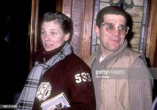 Actress Lindsay Crouse and writer/director David Mamet attends the Party to Unveil the 'Some Men Need Help' Broadway Poster Designed by Andy Warhol...