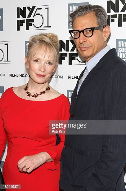 Actress Lindsay Duncan and actor Jeff Goldblum attend the 'Le WeekEnd' premiere during the 51st New York Film Festival at Alice Tully Hall at Lincoln...