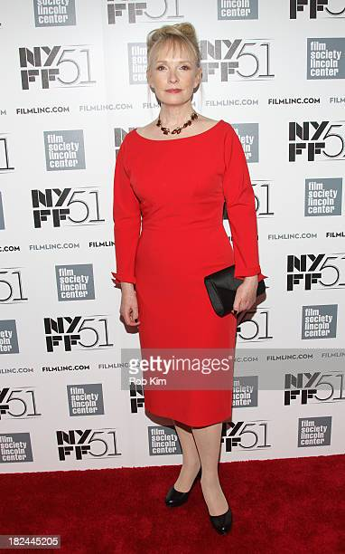 Actress Lindsay Duncan attends the 'Le WeekEnd' premiere during the 51st New York Film Festival at Alice Tully Hall at Lincoln Center on September 29...