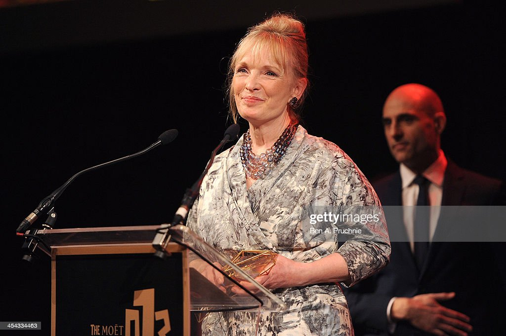 Actress Lindsay Duncan receives the award for Best Actress as she attends the ceremony for the Moet British Independent Film Awards at Old Billingsgate Market on December 8, 2013 in London, England.