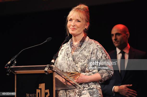 Actress Lindsay Duncan receives the award for Best Actress as she attends the ceremony for the Moet British Independent Film Awards at Old...
