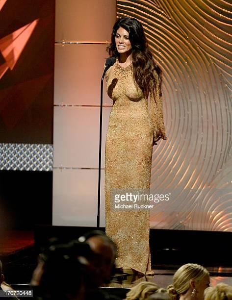 Actress Lindsay Hartley speaks onstage during the 40th Annual Daytime Emmy Awards at the Beverly Hilton Hotel on June 16 2013 in Beverly Hills...