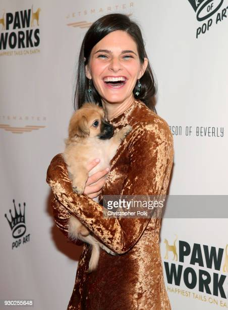 Actress Lindsay Kraft attends the James Paw 007 Ties Tails Gala at the Four Seasons Westlake Village on March 10 2018 in Westlake Village California