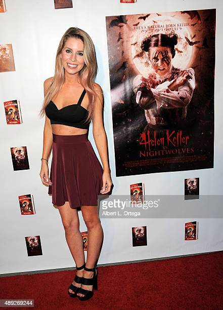 Actress Lindsay Lamb arrives for the Premiere Of Street Justice Films' Helen Keller Vs Nightwolves held at The Vista Theater on September 19 2015 in...