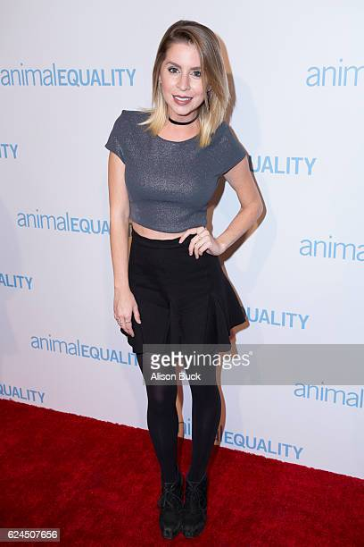 Actress Lindsay Lamb attends Animal Equality 10th Anniversary Celebration Honoring Moby at At The P on November 19 2016 in Los Angeles California