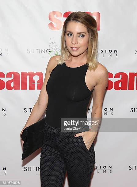 Actress Lindsay Lamb attends Screening Of Vision Films' Sam at Laemmle's Royal Theatre on October 13 2016 in Los Angeles California