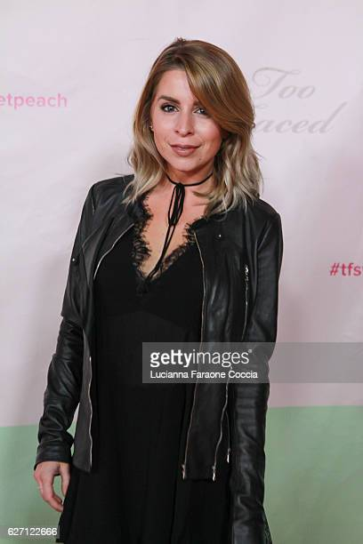 Actress Lindsay Lamb attends Too Faced Cosmetics launch of their Sweet Peach Collection for spring 2017 at The Lot on December 1 2016 in West...