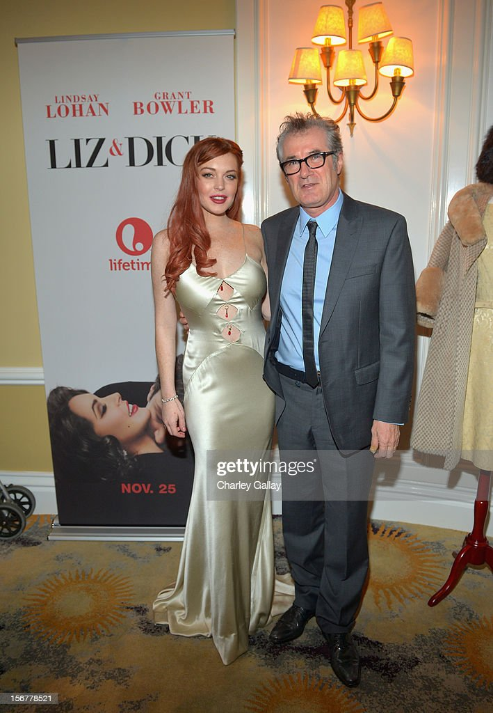 Actress Lindsay Lohan and writer Christopher Monger attend a private dinner for the Lifetime premier of 'Liz & Dick' at Beverly Hills Hotel on November 20, 2012 in Beverly Hills, California.