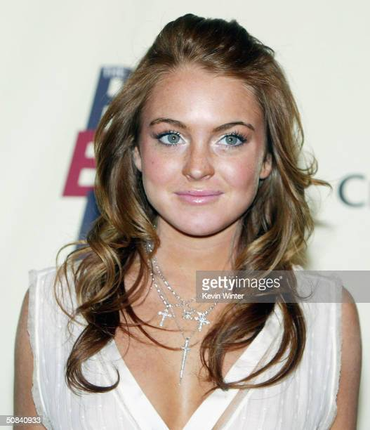 Actress Lindsay Lohan arrives at The 11th Annual Race to Erase MS at the Century Plaza Hotel on May 14 2004 in Los Angeles California