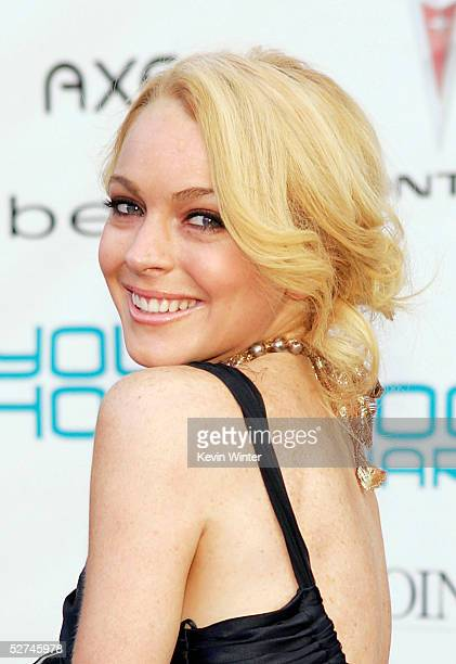 Actress Lindsay Lohan arrives at the 7th Annual Young Hollywood Awards at the Music Box/Henry Fonda Theater on May 1 2005 in Los Angeles California