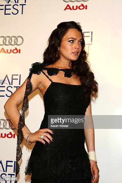 Actress Lindsay Lohan arrives at the AFI FEST presented by Audi opening night gala of Bobby at the Grauman's Chinese Theatre on November 1 2006 in...