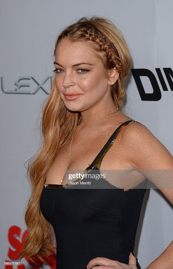 Actress Lindsay Lohan Arrives At The Dimension Films Scary Movie 5 Fotografia De Noticias Getty Images