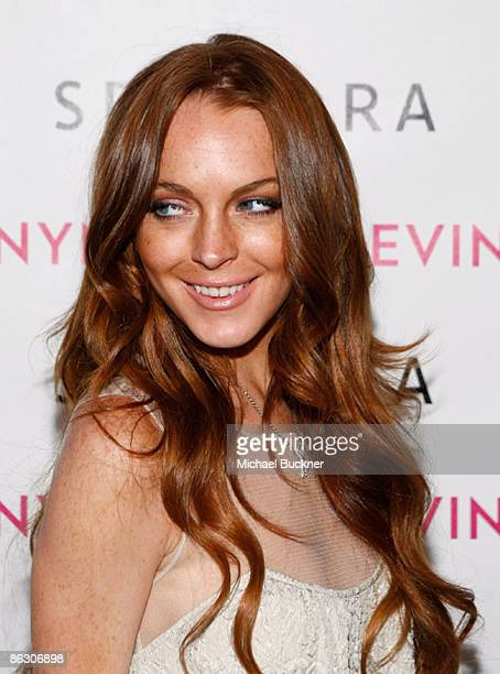 Actress Lindsay Lohan arrives at the launch of Sevin Nyne By Lindsay Lohan held at Sephora on April 30 2009 in Santa Monica California