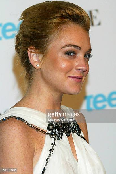 Actress Lindsay Lohan arrives to the Teen Vogue Young Hollywood Issue Party at The Hollywood Roosevelt Hotel on September 20 2005 in Hollywood...