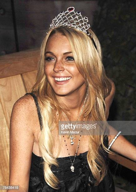 MALIBU CA JULY 02 Actress Lindsay Lohan at her 21st birthday celebration at a private residence in Malibu California on July 2 2007 *EXCLUSIVE MINIMUM