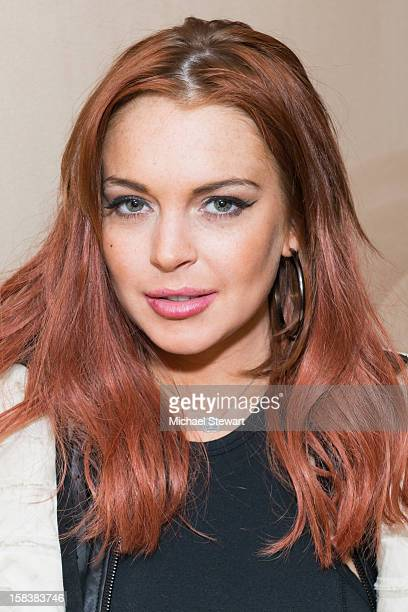 Actress Lindsay Lohan attends Lonneke Engel And Valentina Zelyaeva Organice Your Life Annual Holiday Party at Time Warner Building on December 14...