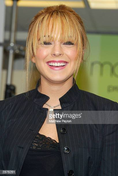 """Actress Lindsay Lohan attends Macy's and Teen People's """"Freaky Friday"""" Mother/Daughter Fashion Show at Macy's Herald Square August 6, 2003 in New..."""