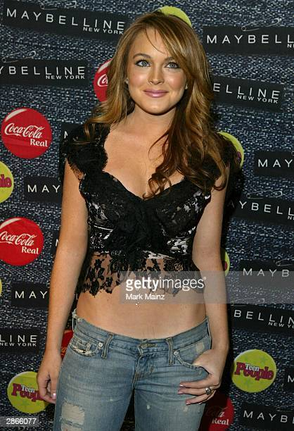 """Actress Lindsay Lohan attends """"Teen People What's Next in New Talent in 2004 and Salute Former What's Next Honorees"""" on January 13, 2004 at Crobar,..."""