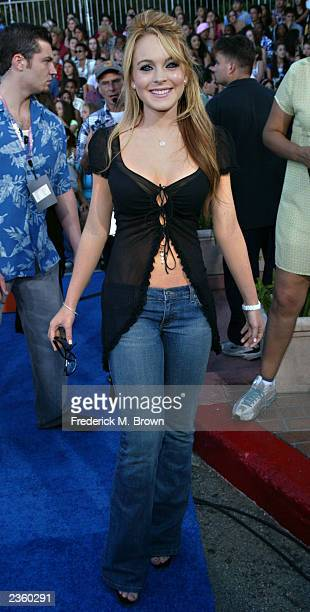 Actress Lindsay Lohan attends The 2003 Teen Choice Awards held at Universal Amphitheater on August 2 2003 in Universal City California