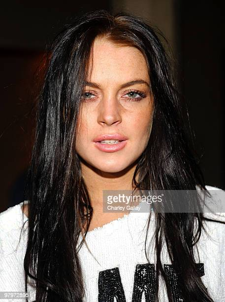 Actress Lindsay Lohan attends the adidas Snoop Dogg 'More Malice' Deluxe Album And Mini Movie Celebration at The Roosevelt Hotel on March 22 2010 in...